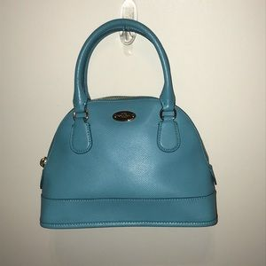 Coach cross grain mini Cora domed satchel bag